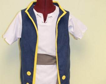 Jake Vest Set - Mens sizes, Jake and the Neverland Pirates, Pirate Vest, Costume Vest, Mens Performance Costumes