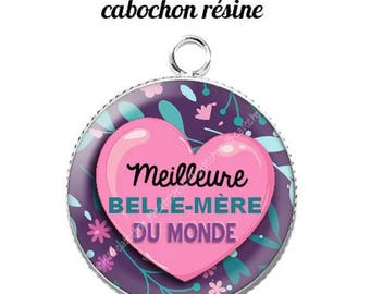 Pendant cabochon resin 20 mm mother-in-law 8