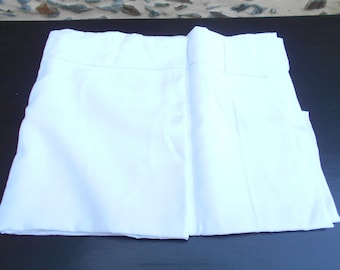 NEW Vintage French  White Metis sheet with Ladderwork.