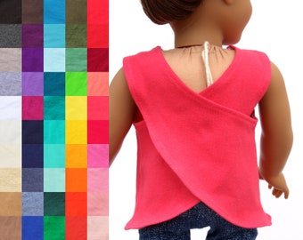 Fits like American Girl Doll Clothes - Cross Back Athletic Tank Top, You Choose Color | 18 Inch Doll Clothes