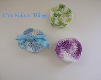 Facial Rounds - Reusable pads - Reusable Facial Rounds - Cotton Pads - Eco-Friendly - Crochet Facial Rounds - Gifts - Pads