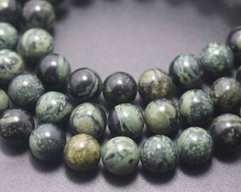 Russian serpentine Beads,Kambaba Jasper Beads, Smooth and Round Stone Beads ,15''one strand ,4mm 6mm 8mm 10mm