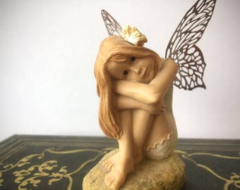RARE ClareCraft Faerie Realm Fairy Sculpture/ Daisy Nell FY09/ Vintage Made in England Discontinued