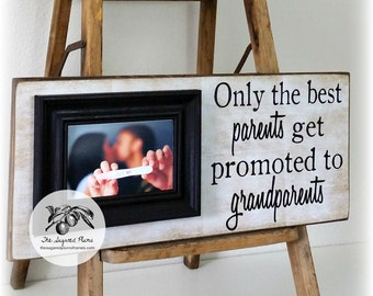 We're Pregnant! Pregnancy Announcement, Pregnancy Reveal, Ultrasound Gift, Grandparents Gift Expecting Baby 8x20