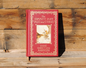 Book Safe - Complete Fairy Tales and Stories - Red Leather Bound Hollow Book Safe
