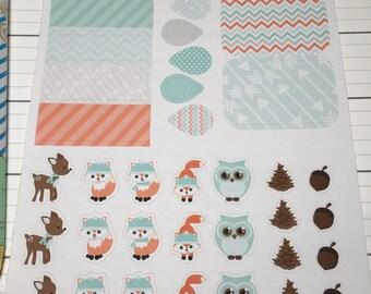 Winter Woodland Planner Stickers