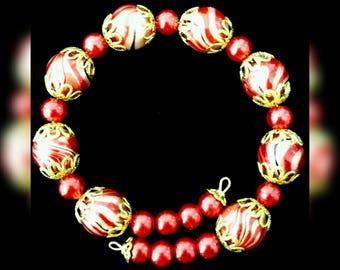 Red marble bracelet