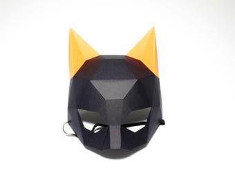 Woman Cat Mask | Paper Cat Mask, Pdf, DIY kit