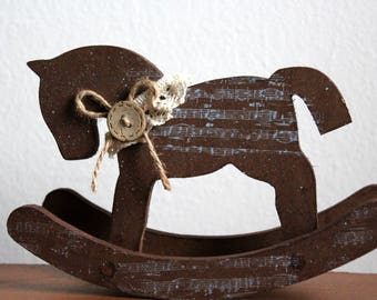 Wooden Rocking Horse, Rustic, Country Style, Farmhouse Style Decor, Home & Living, Home Decor, Housewarming, Rocking Horse, Make Believer,