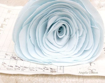 2nd Anniversary Cotton Flower Light Blue  Gift for Her Wife by Cotton Bird Designs