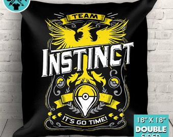 "Team Instinct Go Video Game Inspired Couch Pillow Decorative Pillow Throw Pillow 18""x18"""