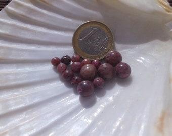 PINK TOURMALINE Bead Set, AA, Natural Stone Bead, Round Beads, Semi Precious Stone, 8mm 6mm and 4-4.5mm