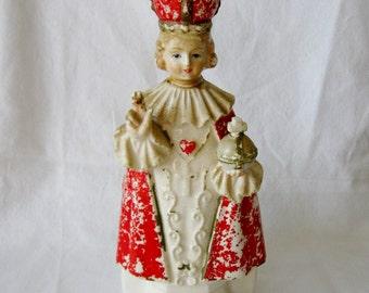 Infant of Prague Figurine/Planter/Holder Made In Japan