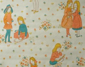 kid wallpaper usa mylar. Vintage Childrens Wallpaper - 50 Cm. Kid Usa Mylar P