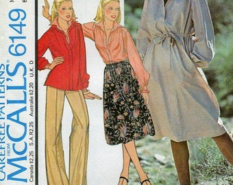 FREE US SHIP McCall's 6149 Retro 1970's Dress Tunic Pullover Size 6,10,12,14,16 Bust 30 32 34 36 Sewing Pattern Factory Folded Unused