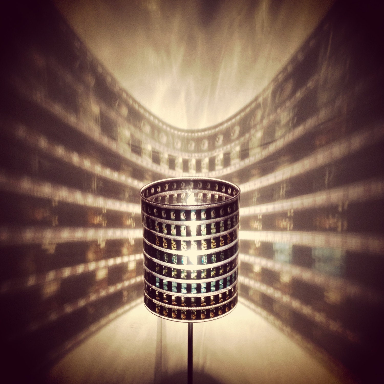 Recycled 35mm film strip lamp shade choose your film zoom aloadofball Gallery