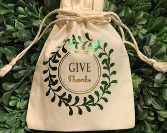 Give Thanks Favor Bags