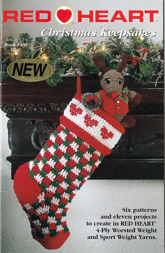 Christmas Keepsakes Designs To Crochet Pattern Booklet Red