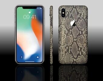 iPhone X 10 Gold Viper Phone Snake Skin