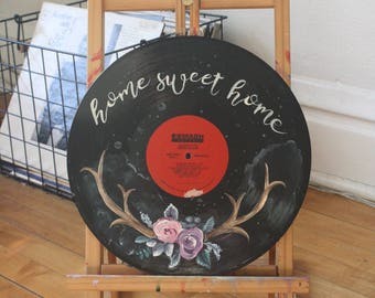 Home Sweet Home Floral Record Painting + Donation to My Friend's Place