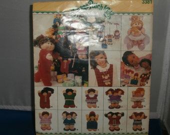 Butterick Sewing Pattern 3381 Cabbage Patch Kids Ornaments