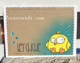 Hey Chickie Note Card