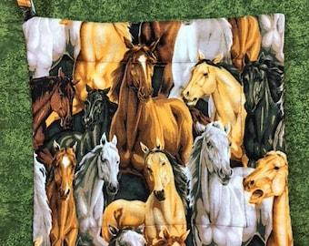 Horses Square Pot Holder