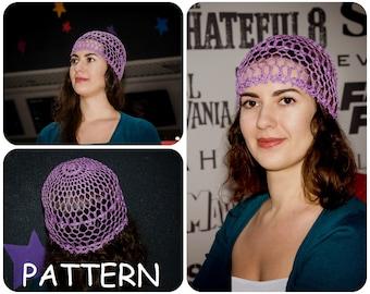 Lace Crochet Hat Pattern - Vintage Crochet Hat Pattern - Summer Crochet Beanie Pattern - Easy Crochet Beanie - Boho Hat Crochet Pattern