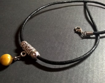 Tigers eye Mens necklace, Natural stone necklace, rope necklace men, mens jewelry