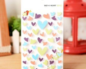 Heart Felt Stickers-Yellow Green Set