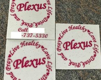 Plexus Live Healthy Life Drink Pink and Pray vinyl decal