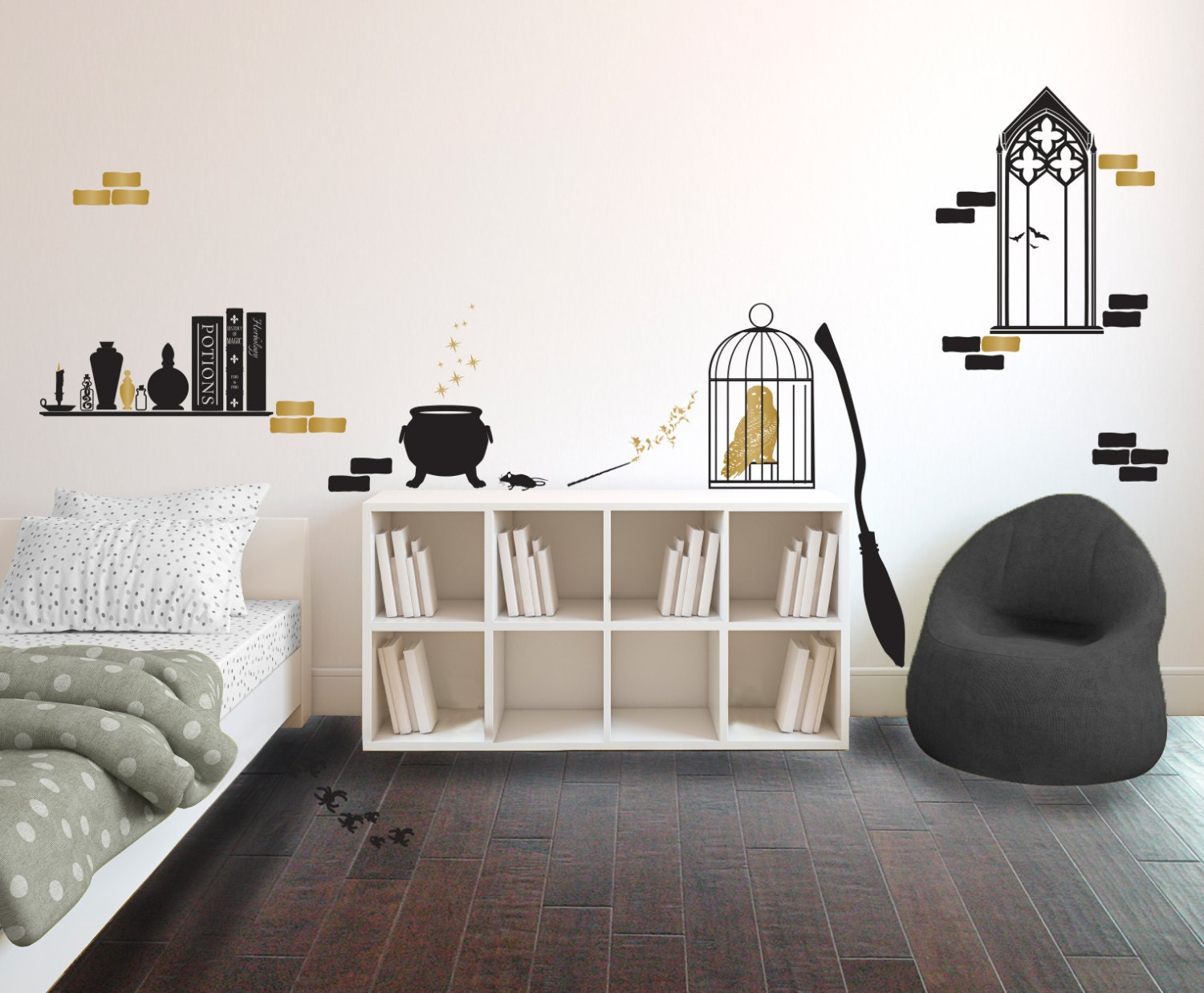 Harry Potter Inspired Wizard S Room Collection Wall
