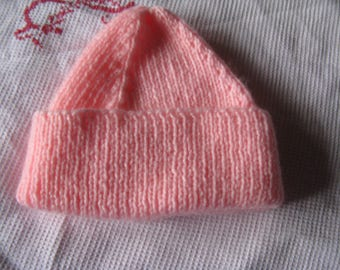 HAT HANDMADE FOR NEWBORN OR REBORN BABY