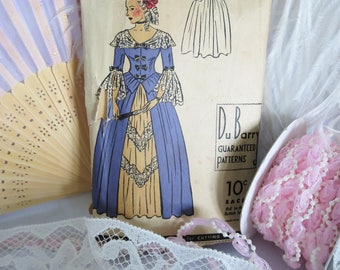 DuBarry Pattern, Crinoline Pattern, Marie Antionette, Period Costume, Costume, Dress, Halloween, Vintage Pattern, Belle, Full Skirt, 607