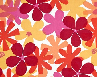 Tropical Island Tangerine - One Yard - Michael Miller Fabric - Sorbet Collection
