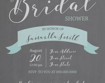 Chalkboard Bridal Shower Invite