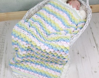 CROCHET PATTERN For Crocodile Stitch Baby Blanket Afghan Crochet Pattern  PDF 337 Digital Download