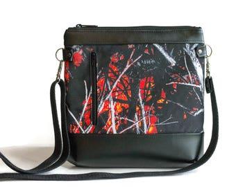 Wildfire Camo Crossbody Bag - Crossbody Purse - Sling bag - Cross Body bag - Camo purse - Orange Camo - Moonshine Camouflage  - Cute purse