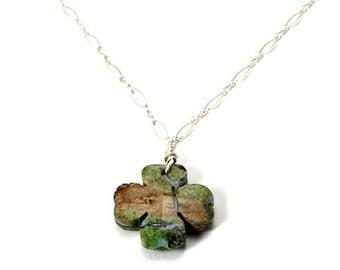 Jade Necklace/ irish jewelry/ pendant necklace/ beach jewelry/ nephrite jade