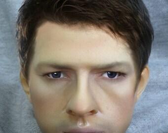MODOLL - 1/3 Size Misha Collins angel Castiel BJD Head from Supernatural