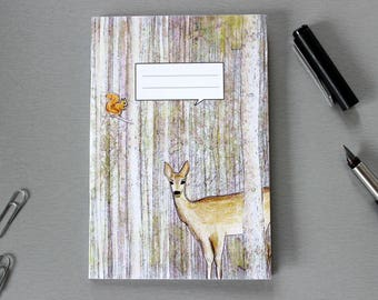 A6 Notebook with Woodland Animals