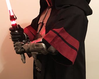 MADE TO ORDER Sith Acolyte Hooded Robe replica, star wars costume, cosplay