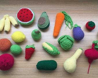 Crochet Fruit and Vegetable Play Kit