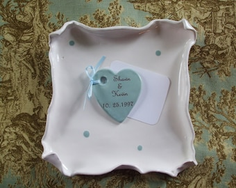 Personalized Hearts, Charm, Thank-yous, Guest Book Alternative, Love Notes, Hearts, Custom Set of 20 Hearts, Wedding Favors