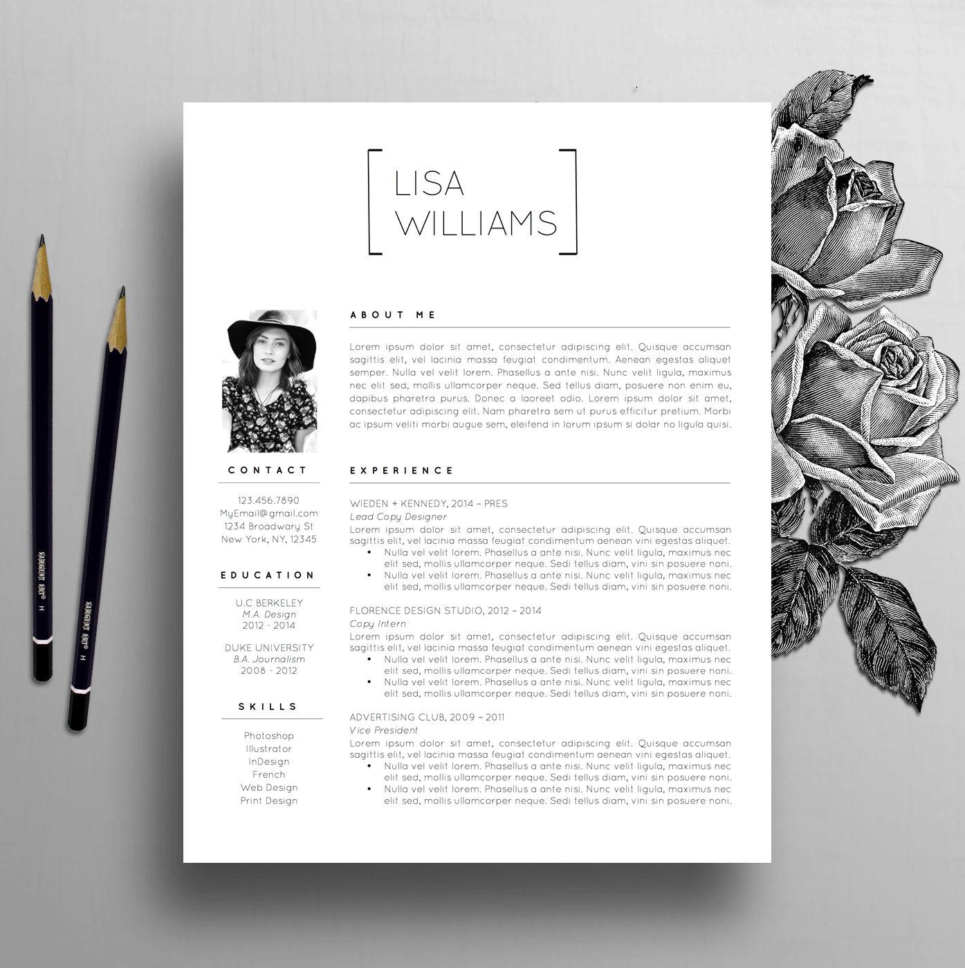 Kreative Lebenslauf Vorlage Instant Download Wort CV