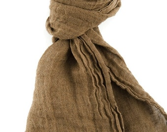 Linen summer scarf, light scarf for men, for women, washed linen, soft linen scarf, gift ideas for her, gift for mom, summer accessories