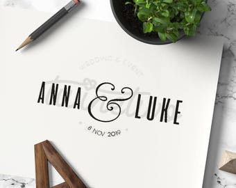 Wedding Logo Design • Wedding Monogram Design | Personalized | Ready Made | Custom | Modern | Minimalistic|