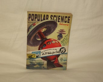 vintage february 1939 popular science magazine