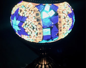 Mosaic Stained Glass Style Lamp