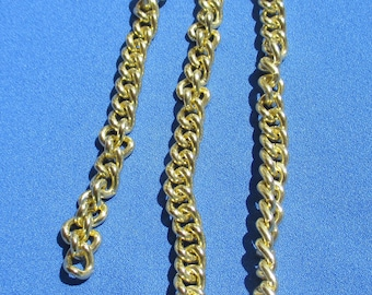 Vintage Gold Colored Aluminum Chain Missing Clasp